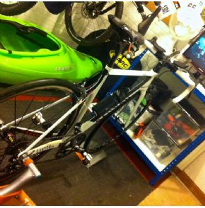 The Turbo Trainer set up, without which I may have gone insane...