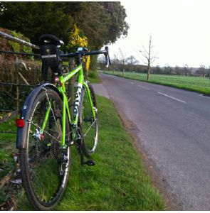 The Cotic X on the final outing in January, the roads were almost dry today!